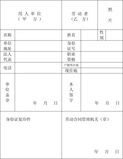 河北省劳动合同范本完整