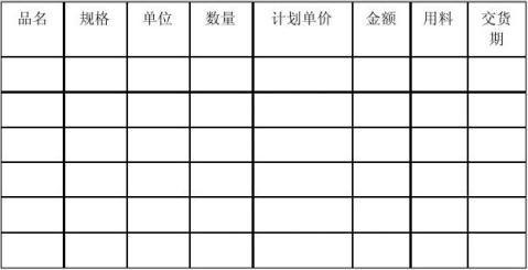 合同模板大全印刷品订货合同