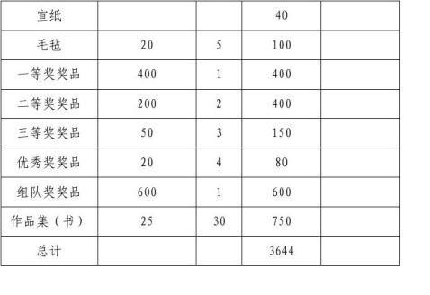 摄影书法比赛策划书修订