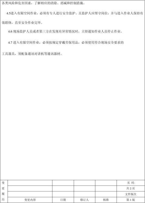 68有限空间作业管理制度