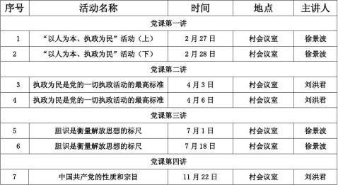 党课活动计划表