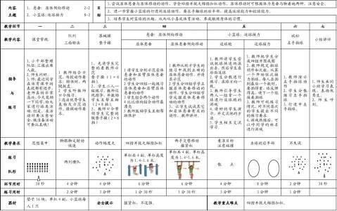 杨浦区小学体育与健身学科支撑与悬垂配套课时计划52