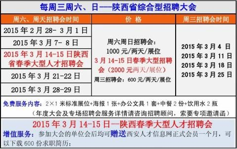 20xx年2月西安招聘会20xx年2月西安人才市场大型招聘会
