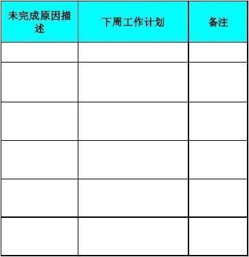 周工作计划考核表模板