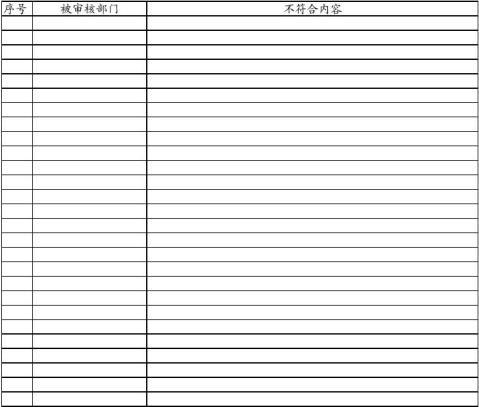 质量管理体系内部审核报告