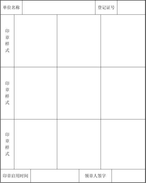 民办非企业单位印章备案表