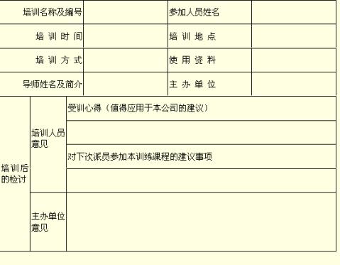 员工培训报告书2