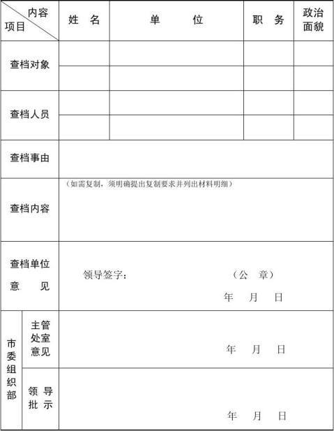 20xx版人事档案卷内材料范本附件6
