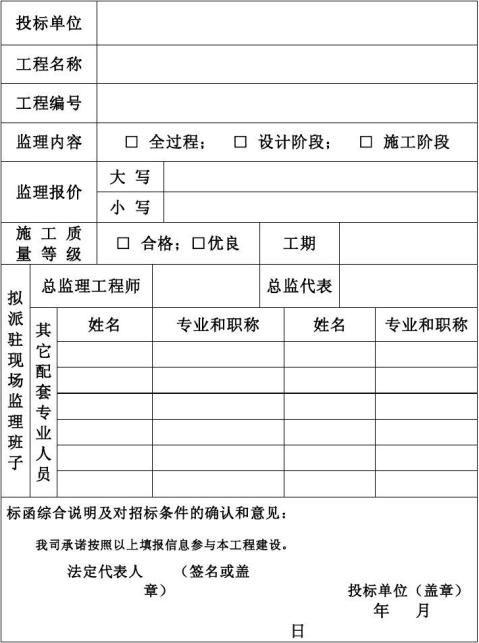 09监理招标文件范本