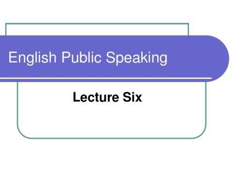英语演讲六